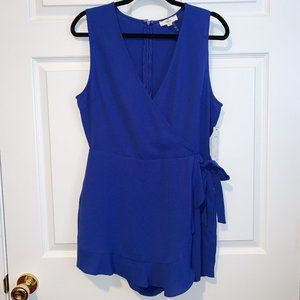 "NWT Romper ""Worth Your While Royal Blue"""